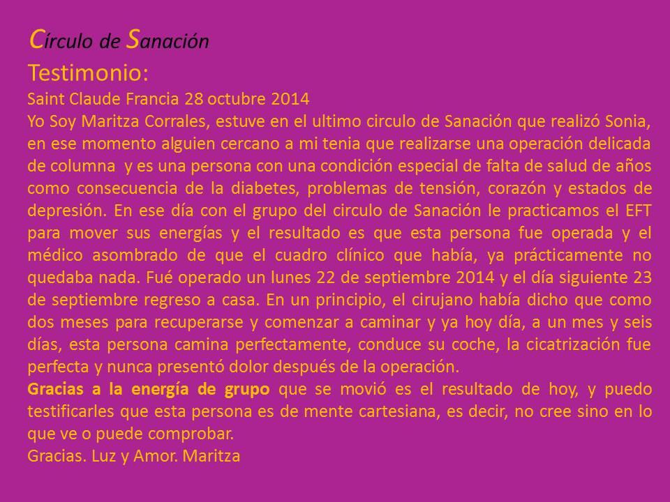 Testimonio Maritza