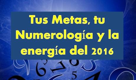 Metas y Numerología 2016