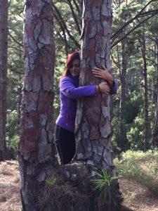 abrazar árboles